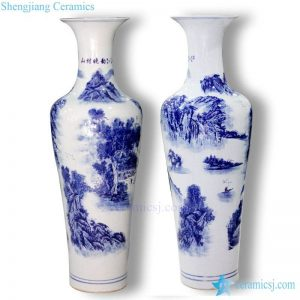 BV-107 wholesales antique chinese Bule and white tall porcelain flower vase