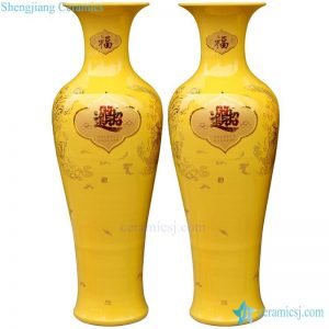 BV-108 wholesales antique chinese Red tall porcelain flower vase