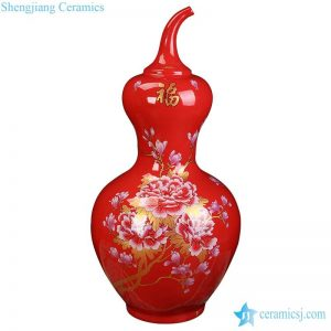 BV-113wholesales antique chinese red floor ceramic porcelain flower vase large for office decoration