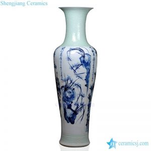 BV-115 wholesales antique chinese blue and white floor ceramic porcelain flower vase large for office decoration