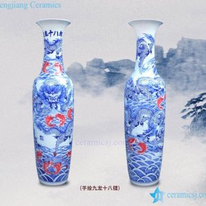 BV-117 wholesales antique chinese blue and white floor ceramic porcelain flower vase large for office decoration