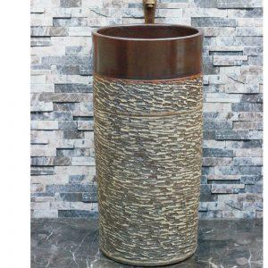 LJ-1015 Jingdezhen Shengjiang ceramic factory marble surface pedestal basin