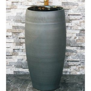 LJ-1044 Jingdezhen Shengjiang ceramic factory dark color smooth surface one-piece basin