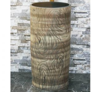 LJ-1048 Hot Sales special design wood surface outdoor vanity basin