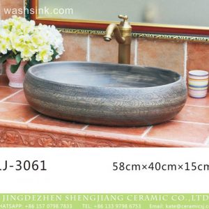 LJ-3061 Jingdezhen Sanitary Ware Porcelain Bathroom glazing Wash Basin Sink