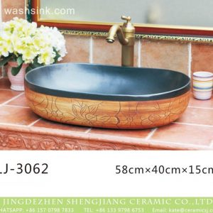 LJ-3062 Jingdezhen Sanitary Ware Porcelain Bathroom glazing Wash Basin Sink