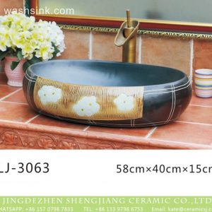 LJ-3063 Jingdezhen Sanitary Ware Porcelain Bathroom glazing Wash Basin Sink