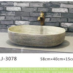 LJ-3078 Clay Ceramic polished Bathroom artwork Wash Basin Sink