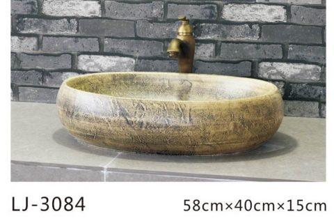 LJ-3084 Clay Ceramic brightness Bathroom artwork Laundry Wash Basin Sink