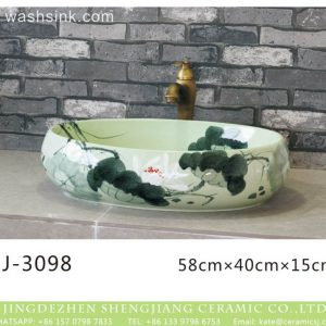 LJ-3098 Ceramic blue Bathroom artwork awesome Laundry Washing Basin Sink