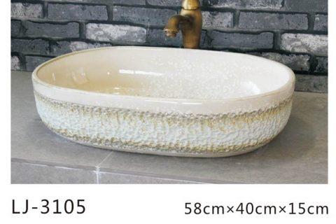LJ-3105 Ceramic Clay black Bathroom artwork grace Laundry Washing Basin Sink