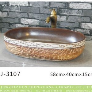 LJ-3107 Ceramic Clay Bathroom artwork grace Laundry Washing Basin Sink
