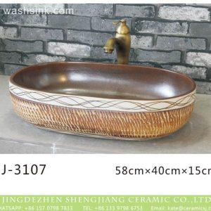 LJ-3107 Ceramic Clay Bathroom artwork grace Laundry Washing Basin Sink