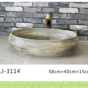 LJ-3114 Ceramic Clay Glossy Flower Bathroom artwork grace Laundry Washing Basin Sink