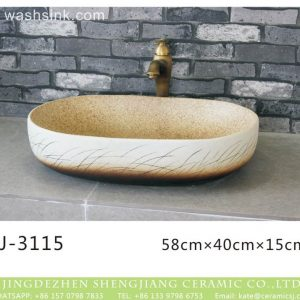 LJ-3115 Ceramic Clay Glass Flower Bathroom artwork grace Laundry Washing Basin Sink