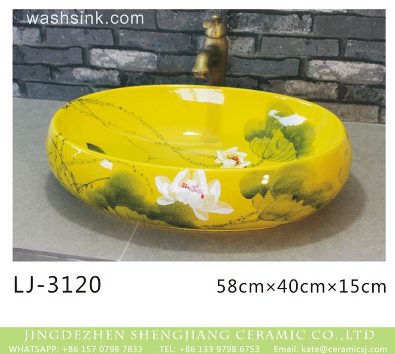 Yellow ceramic wash sink