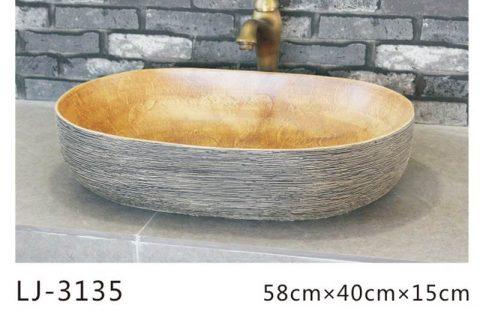LJ-3135 Porcelain Clay Bathroom artwork grace Laundry Washing Basin Sink