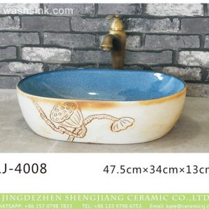 LJ-4008 Porcelain White retro Bathroom artwork Laundry Washing Basin Sink