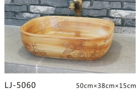 LJ-5060 Porcelain clay glazed Bathroom artwork Laundry Washing Basin Sink