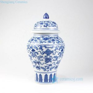 RYUJ20 Blue and white low price online sale porcelain jar
