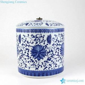 RZLX01-03 Blue and white small ceramic oliver oil jar