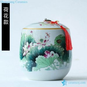 RZLX04-11 China classic home daily use ceramic cuisine canister