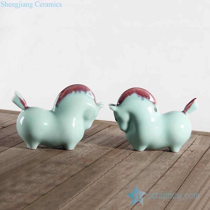 Jingdezhen horse figurine