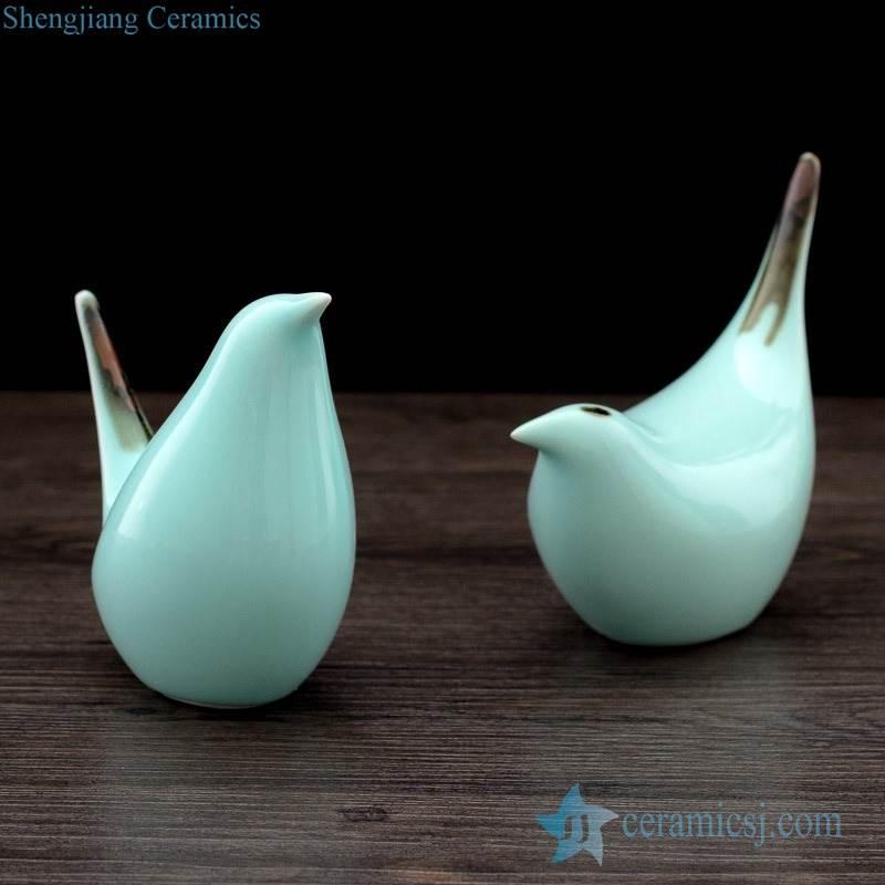 Jingdezhen lovely bird porcelain figurine