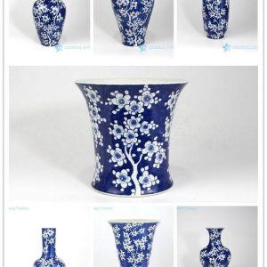 RZMA01-08 16 18 Winter sweet patter hand painted ceramic vases