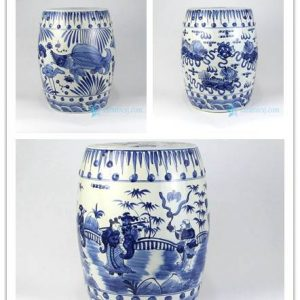 RZMA11-13 Blue and white hand painted style ceramic stool