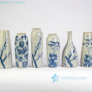 RZMB01-A-F Plants pattern hand paint collection series vases