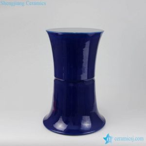 RZMG03 Dark blue color trump shape porcelain cool stool
