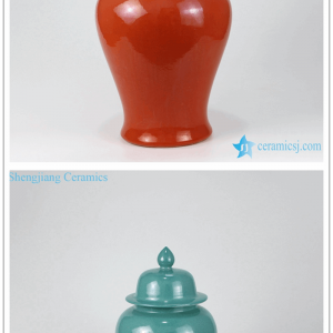 RZMG04 05 07 11 Plain color candle lid temple porcelain jar