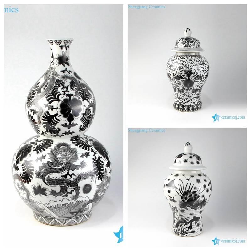 ink paint style vase