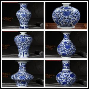 RYIG33-A-H High quality low price interlock flower branch ceramic mini vase