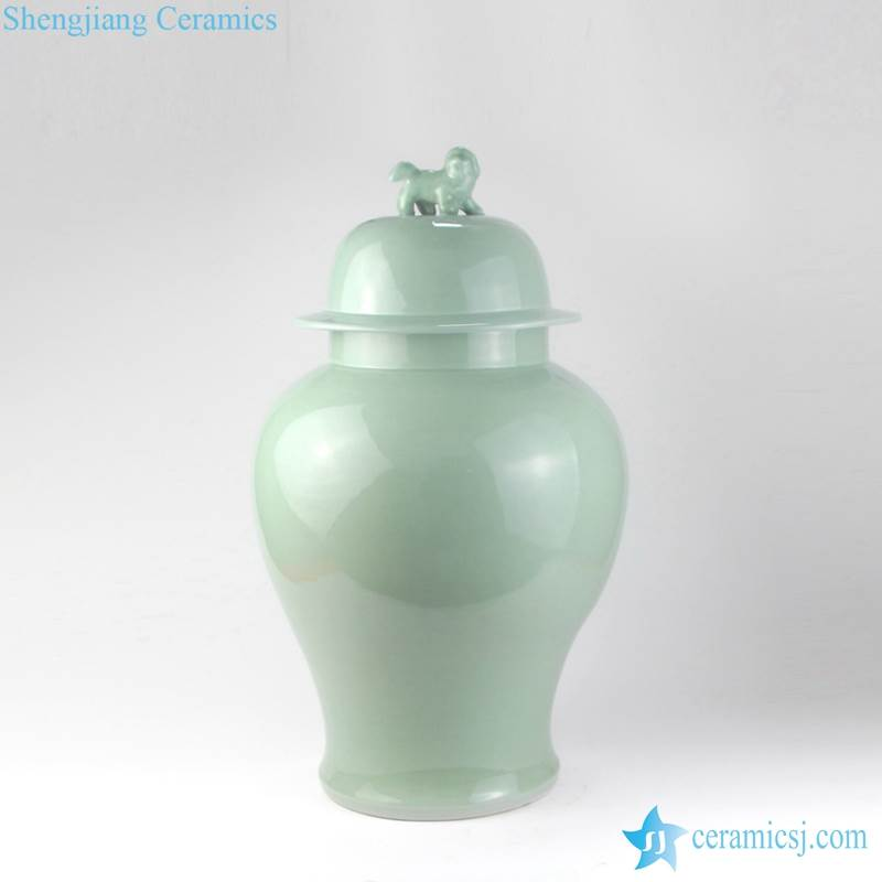 LIGHT GREEN VASE WITH LID SELL FROM CHINA