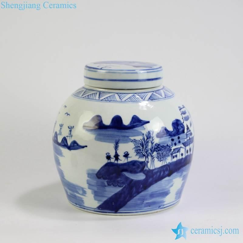 landscape medium size ceramic pot