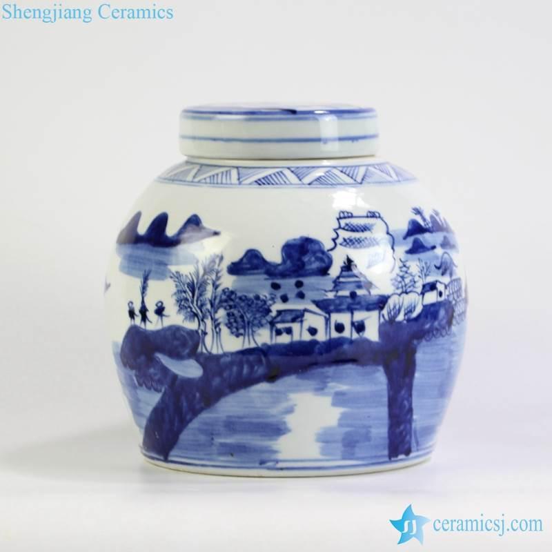china town ceramic jar