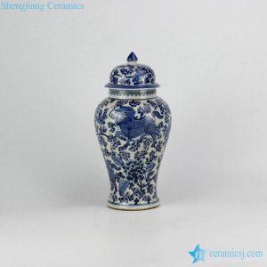 RZHM04 China ancient monster kylin pattern hand draft style porcelain ginger jar
