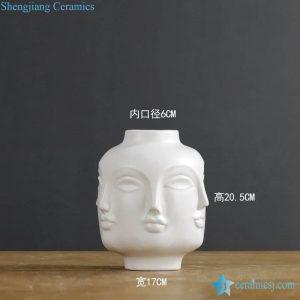 RZLK25-A-02 Matte white glaze religious ceramic vase
