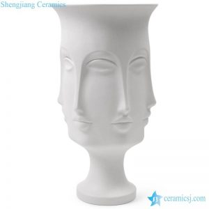 RZLK25-B Sculpture design tall Egypt Cleopatra face porcelain vase