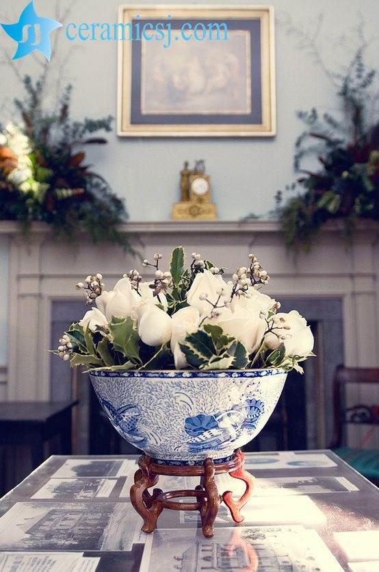 ceramic bowl with flower
