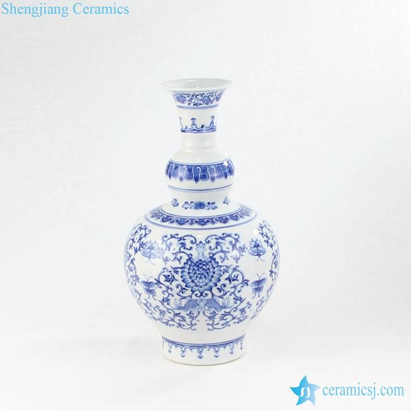 Blue And White Vase Jingdezhen Shengjiang Ceramic Co Ltd