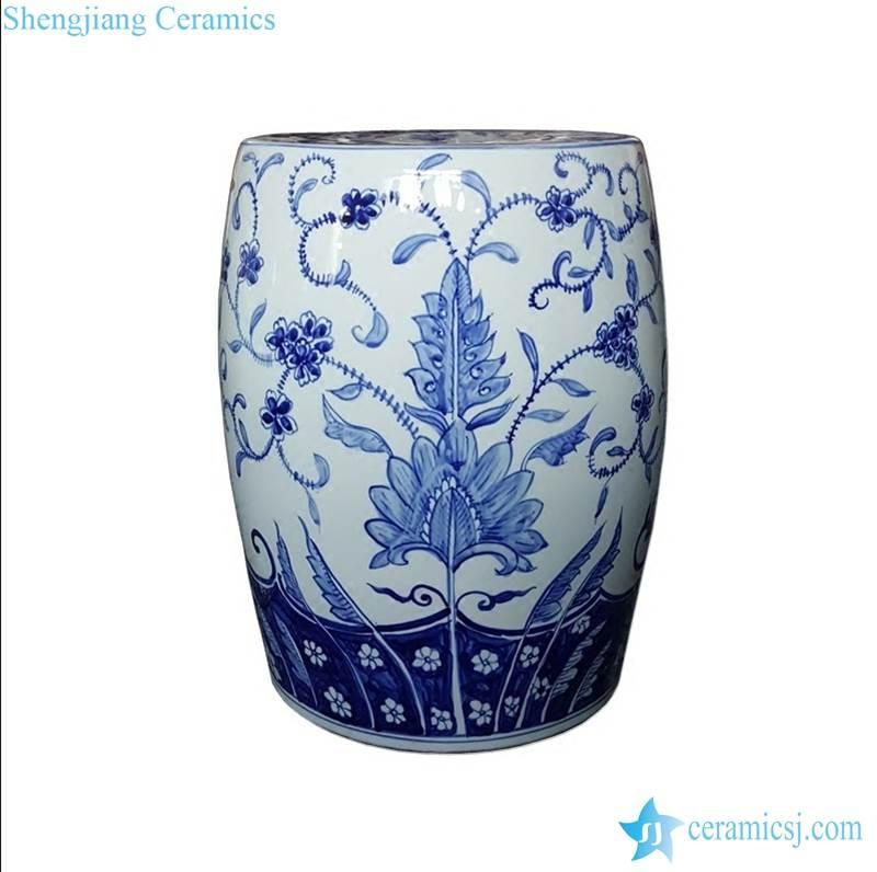 floral ceramic stool