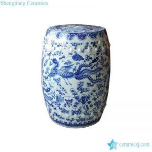 RYNQ249 Hand painted phoenix porcelain rolling seat