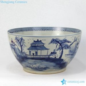 RZFH07-B Giant size antique color hand craft ceramic bowl