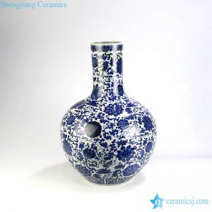 RZGM04 Large floral ceramic ball vase
