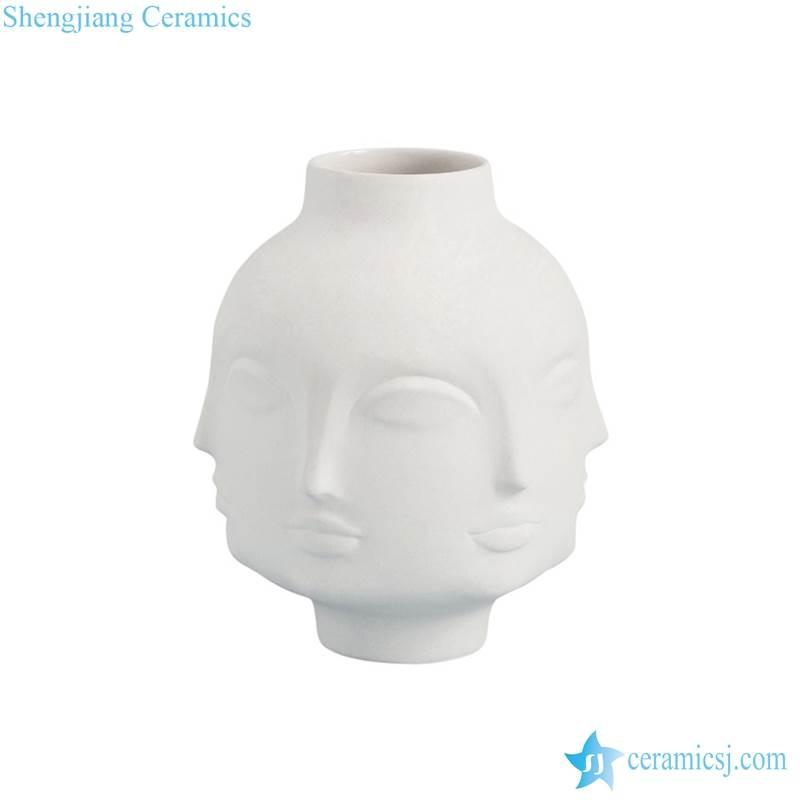 exotic ceramic face vase