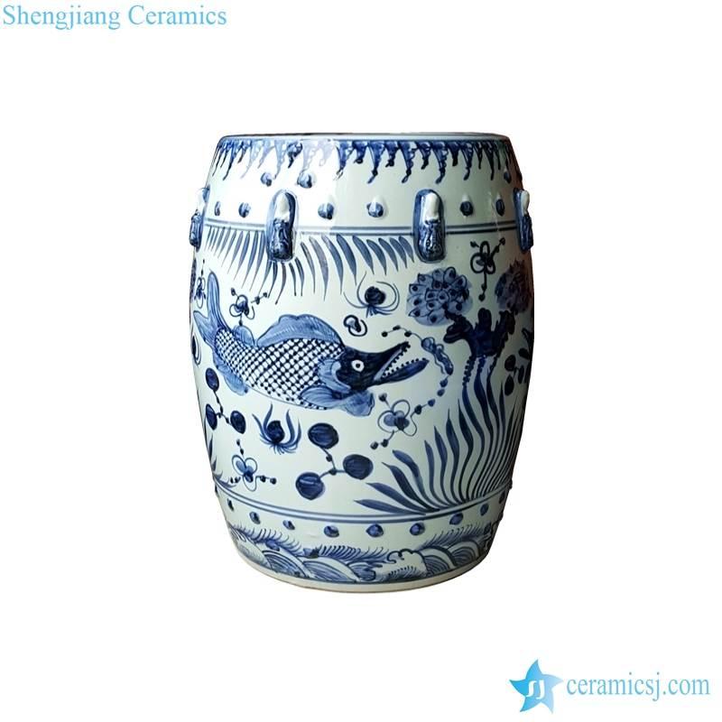 fish ceramic stool