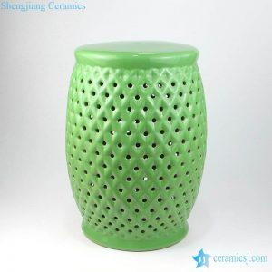 RYIR125 Bright green color grids design ceramic stool